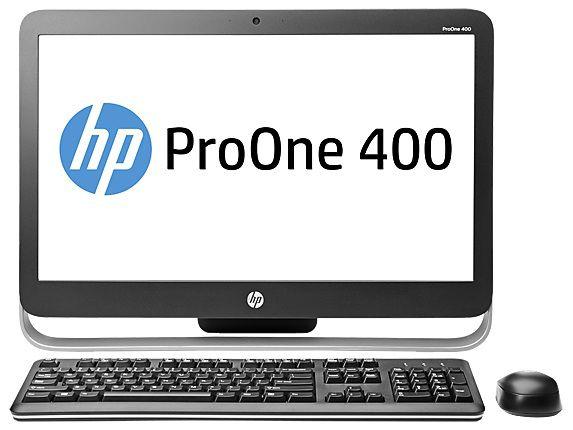 Моноблок HP ProOne 400 G1, Intel Core i5 4590T, 4Гб, 500Гб, Intel HD Graphics 4600, DVD-RW, Windows 7 Professional, черный и серебристый [g9e66ea]