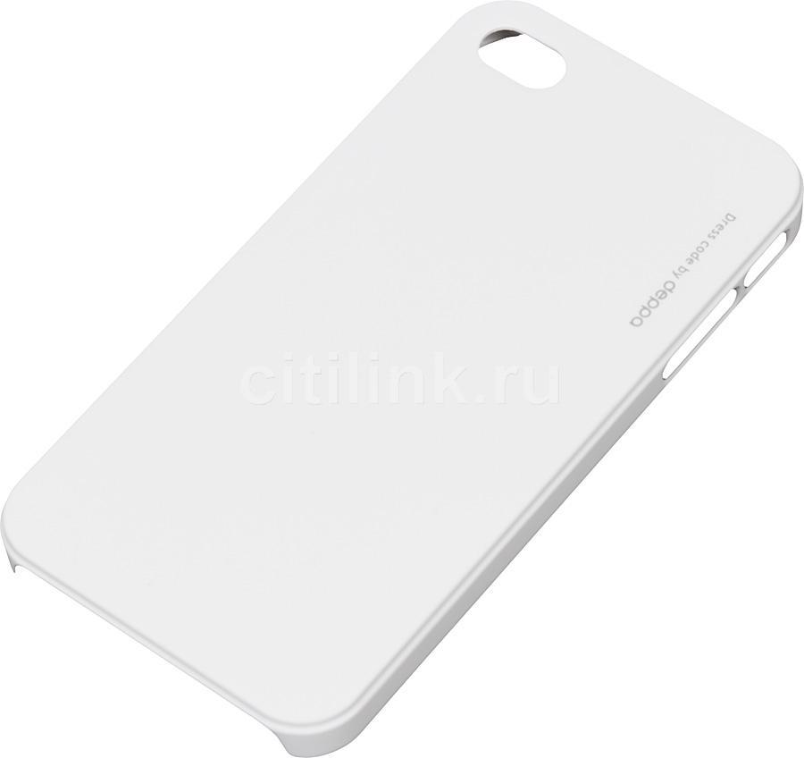 Чехол (клип-кейс) DEPPA 83005, для Apple iPhone 4/4S, белый