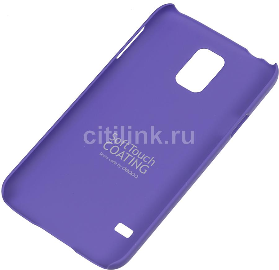 Чехол (клип-кейс) DEPPA Air Case, 83057, для Samsung Galaxy S5, фиолетовый
