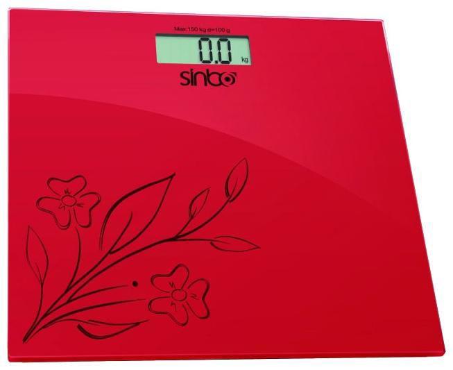 Напольные весы SINBO SBS 4421, до 150кг, цвет: красный