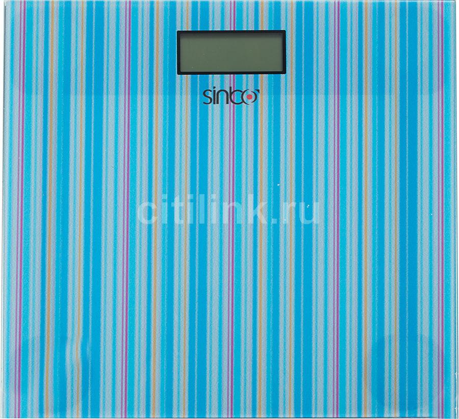 Напольные весы SINBO SBS 4427, до 150кг, цвет: голубой/рисунок