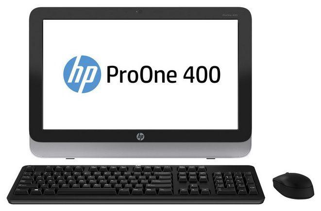 Моноблок HP ProOne 400 G1, Intel Core i3 4130T, 4Гб, 1000Гб, Intel HD Graphics 4400, DVD-RW, Windows 7 Professional, черный и серебристый [d5u22ea]