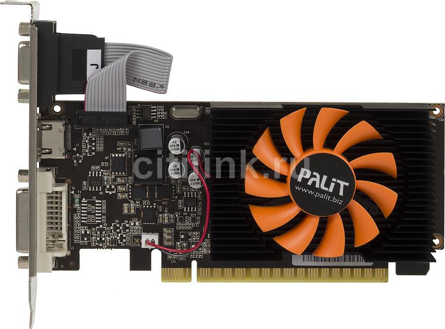 Видеокарта PALIT GeForce GT 730,  PA-GT730-1GD3,  1Гб, DDR3, Low Profile,  oem [neat7300hd01-1085f bulk]