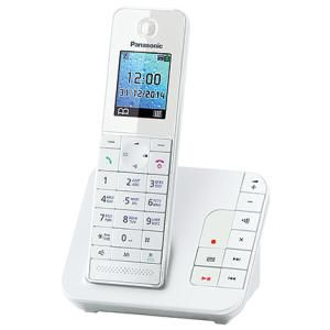 Радиотелефон PANASONIC KX-TGH220RUW,  белый