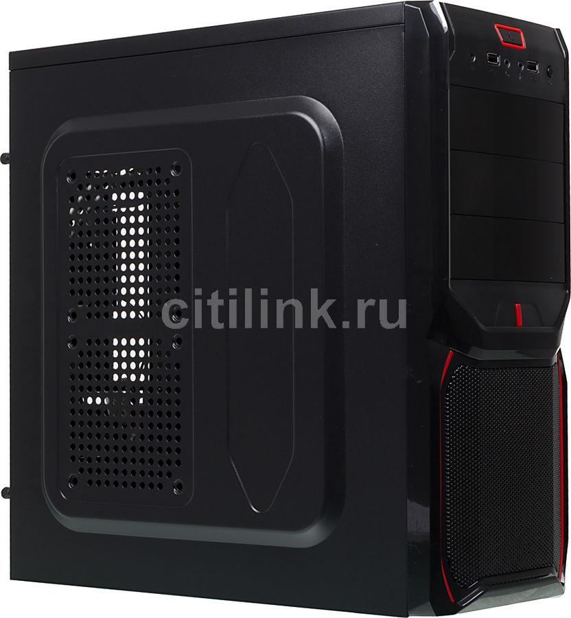 Корпус ATX AEROCOOL V3X IRU, Midi-Tower, без БП,  черный и красный