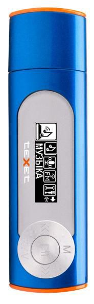 MP3 плеер TEXET Т-26 flash 8Гб синий [124162]