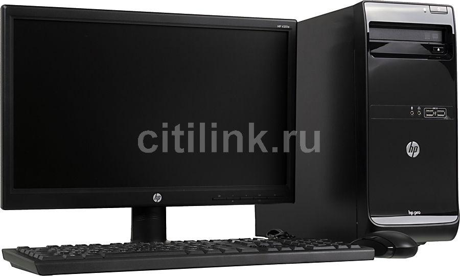 Компьютер  HP Pro 3500 MT + монитор V201a (комплект),  Intel  Pentium  G2030,  DDR3 4Гб, 500Гб,  Intel HD Graphics,  DVD-RW,  Free DOS,  черный [j4a98ea]
