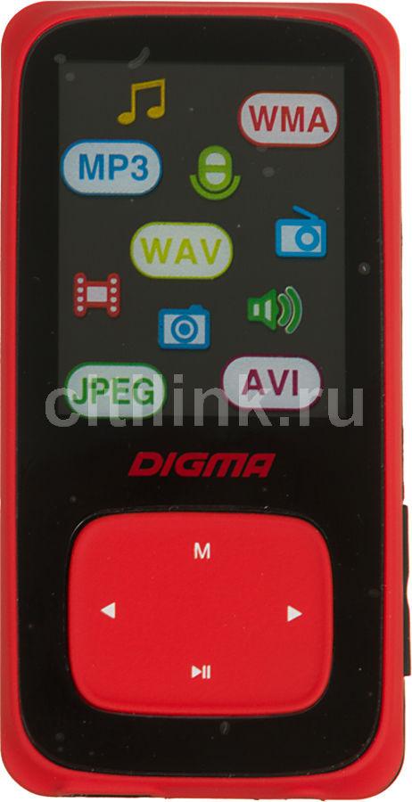 MP3 плеер DIGMA Cyber 2 flash 8Гб красный