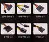 Блок питания Aerocool ATX 600W KCAS-600W 80+ bronze (24+4+4pin) APFC 120mm fan 7xS (отремонтированный) вид 8