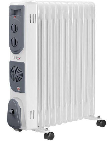 Масляный радиатор SINBO SFH 3387, 2300Вт, белый