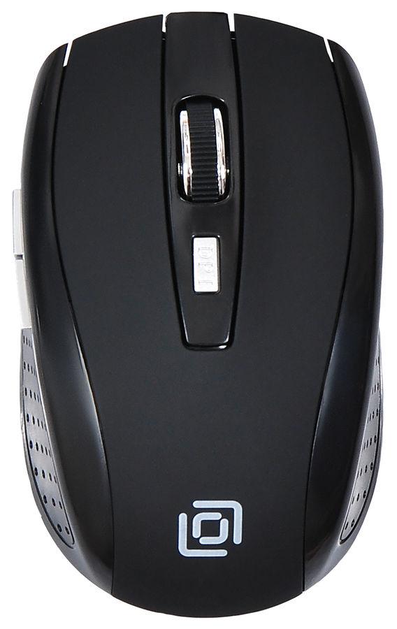 Мышь OKLICK 455MW оптическая беспроводная USB, черный [tm-8100 black rubber]