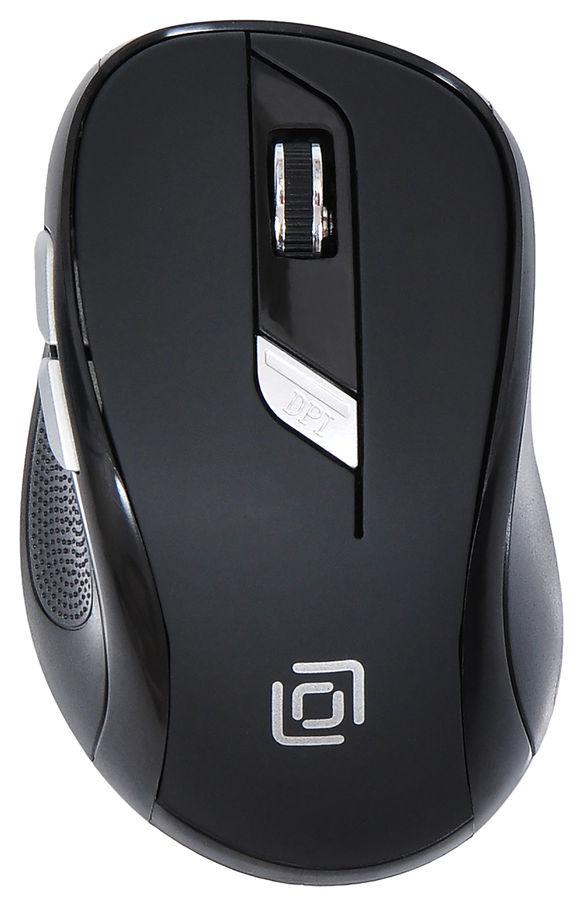 Мышь OKLICK 465MW оптическая беспроводная USB, черный [tm-7100p black]