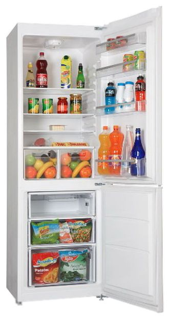 Холодильник VESTEL VNF 386 VWE,  двухкамерный,  белый