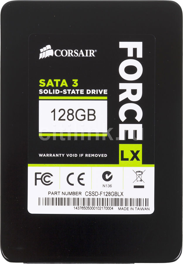 SSD накопитель CORSAIR Force CSSD-F128GBLX 128Гб, 2.5