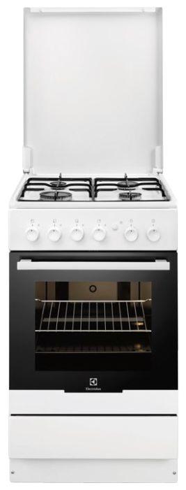 Газовая плита ELECTROLUX EKG951106W,  газовая духовка,  белый