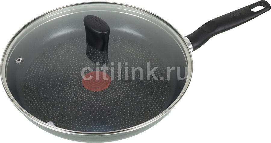 Сковорода TEFAL Just 04082120, 28см, с крышкой,  черный [9100015402]