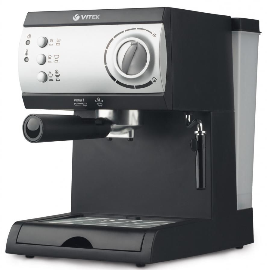 Кофеварка VITEK VT-1511,  эспрессо,  черный  / серебристый
