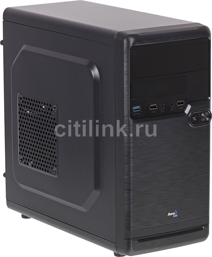 Корпус mATX AEROCOOL Qs-182, Mini-Tower, без БП,  черный