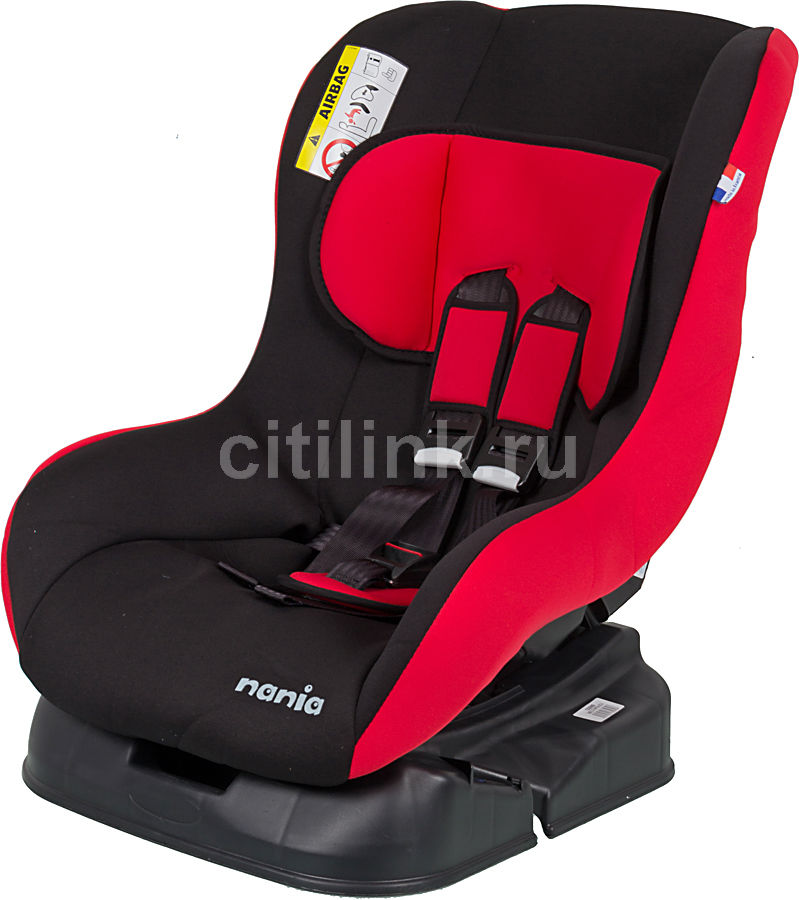 Автокресло детское NANIA Basic Comfort ECO (paprika), 0+/1, черный/красный [133080]