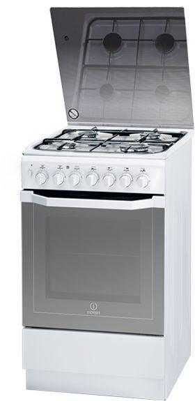 Газовая плита INDESIT I5G52G(W)/RU,  электрическая духовка,  белый