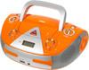 Аудиомагнитола BBK BX325U,  оранжевый и серебристый вид 1