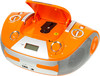 Аудиомагнитола BBK BX325U,  оранжевый и серебристый вид 2
