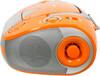 Аудиомагнитола BBK BX325U,  оранжевый и серебристый вид 5