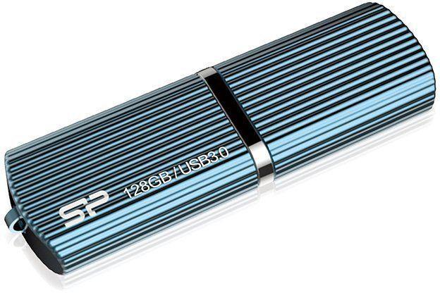 Флешка USB SILICON POWER Marvel M50 128Гб, USB3.0, голубой [sp128gbuf3m50v1b]