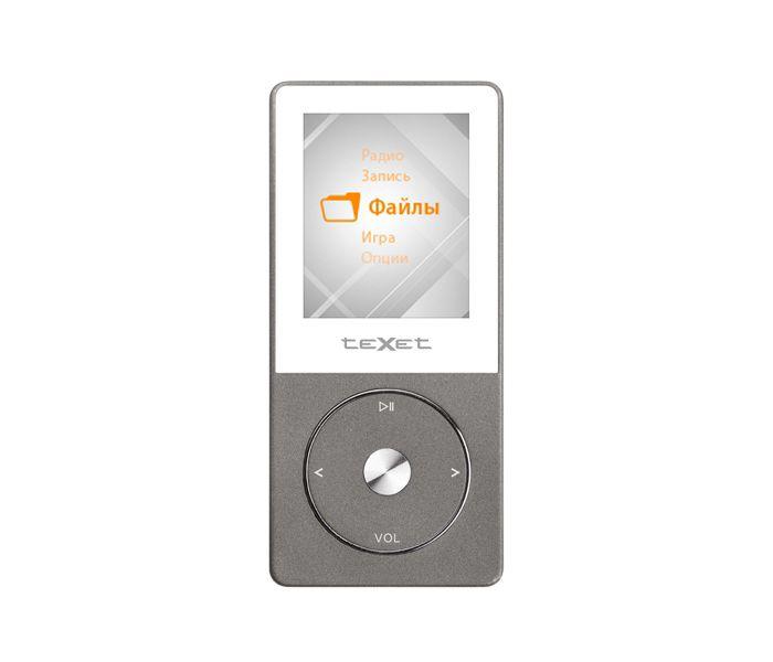 MP3 плеер TEXET Т-55 flash 8Гб серый