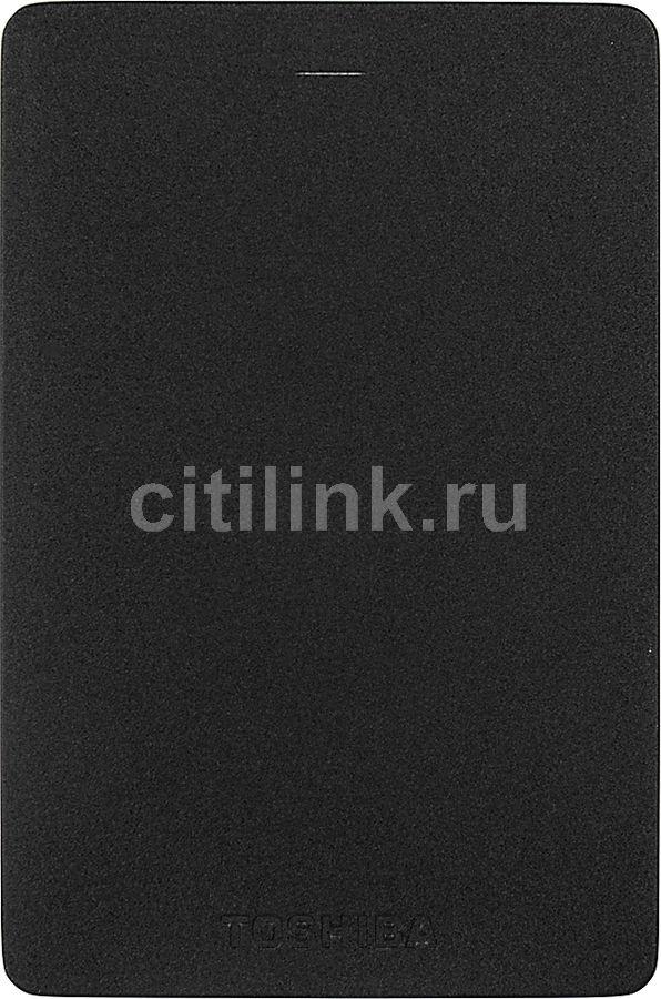 Внешний жесткий диск TOSHIBA CANVIO ALU HDTH320EK3CA, 2Тб, черный