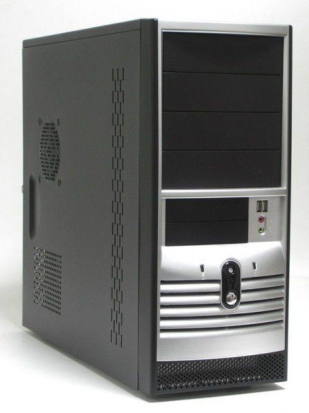 Корпус ATX FOXCONN TLA-002, 500Вт,  черный и серебристый