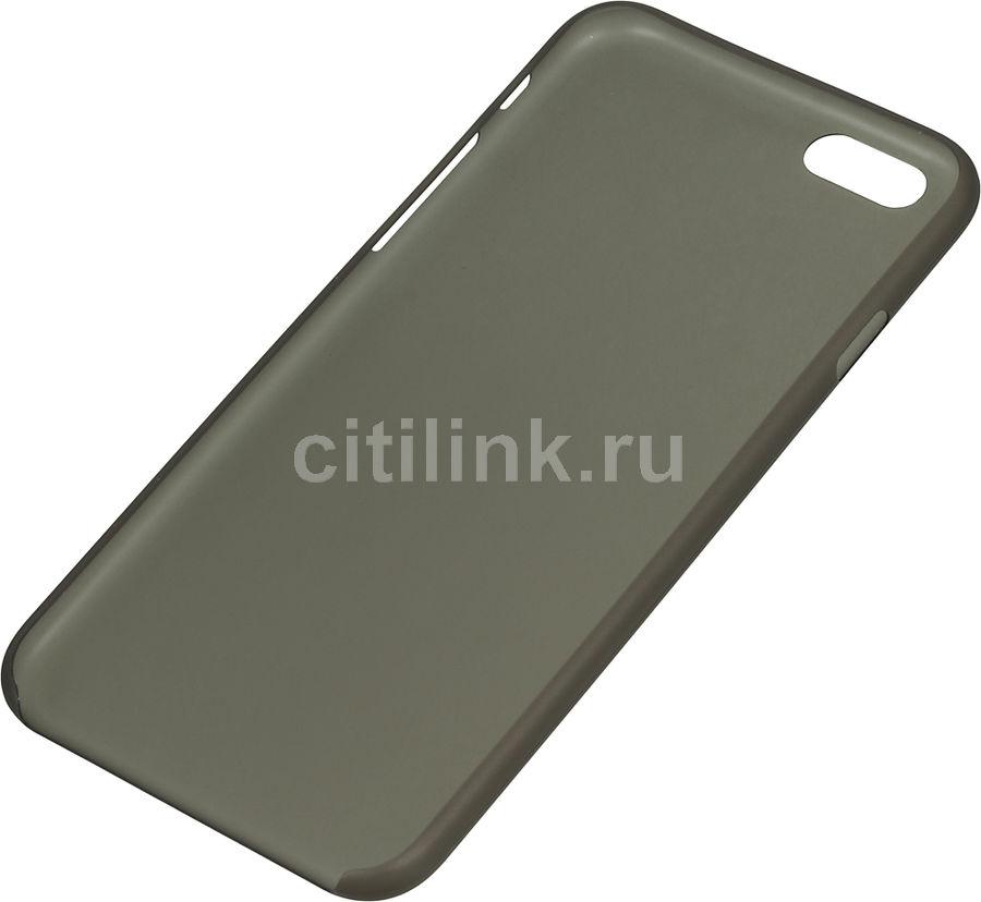 Чехол (клип-кейс) HAMA UltraSlim, для Apple iPhone 6, черный [135008]