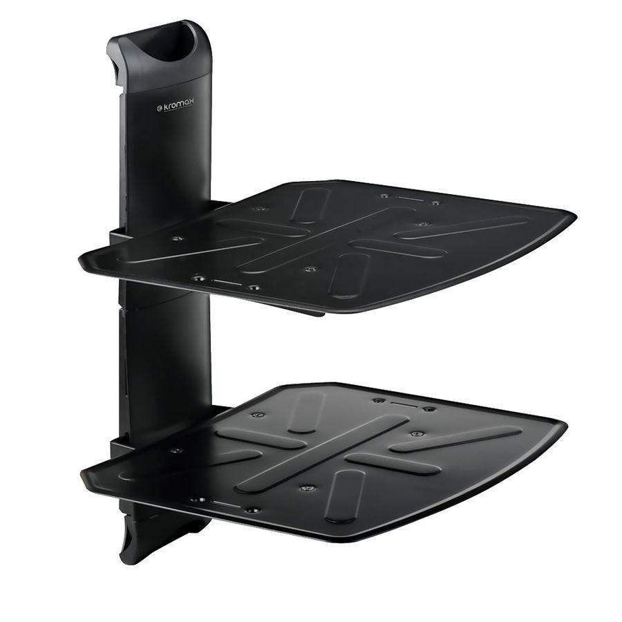 Кронштейн-подставка KROMAX Steel-Duo,   для DVD и AV систем,  8кг,  черный