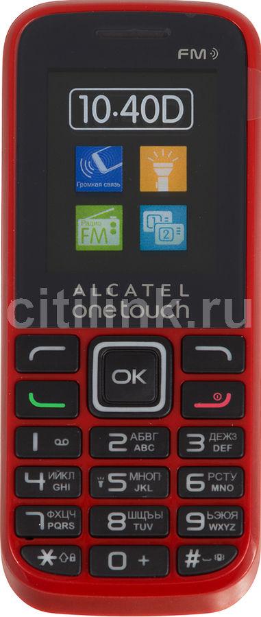 Мобильный телефон ALCATEL OneTouch 1040D  красный