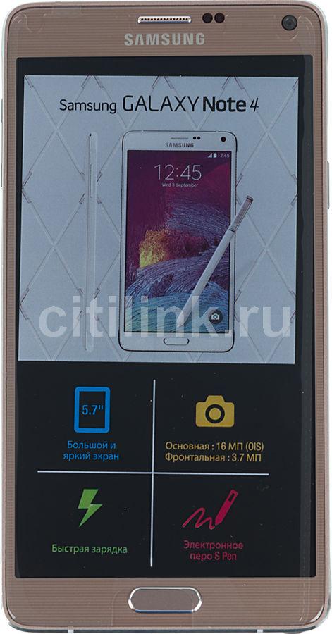Смартфон SAMSUNG Galaxy Note 4 SM-N910C,  золотистый