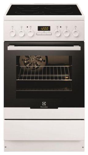 Электрическая плита ELECTROLUX EKC954506W,  стеклокерамика,  белый