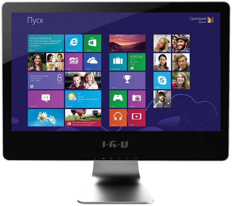 Моноблок IRU T2107, Intel Core i3 4130, 4Гб, 1000Гб, nVIDIA GeForce GT740 - 1024 Мб, DVD-RW, Windows 8.1, черный