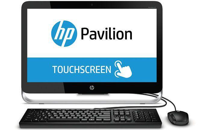 Моноблок HP Pavilion 23-p051nr, Intel Core i5 4590T, 4Гб, 1000Гб, nVIDIA GeForce 810A - 2048 Мб, DVD-RW, Windows 8.1, черный и серебристый [k0r28ea]