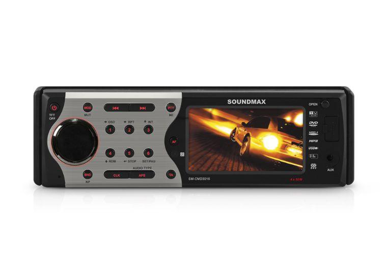 Автомагнитола SOUNDMAX SM-CMD3016,  USB,  SD/MMC