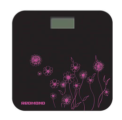 Напольные весы REDMOND RS-715 pinlk flowers, до 180кг, цвет: черный/рисунок [rs-715 (pink)]