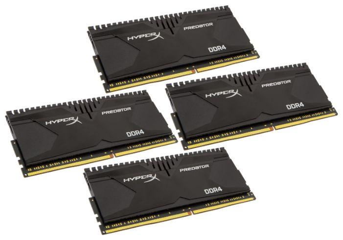 Модуль памяти KINGSTON HyperX Predator HX424C12PB2K4/16 DDR4 -  4x 4Гб 2400, DIMM,  Ret