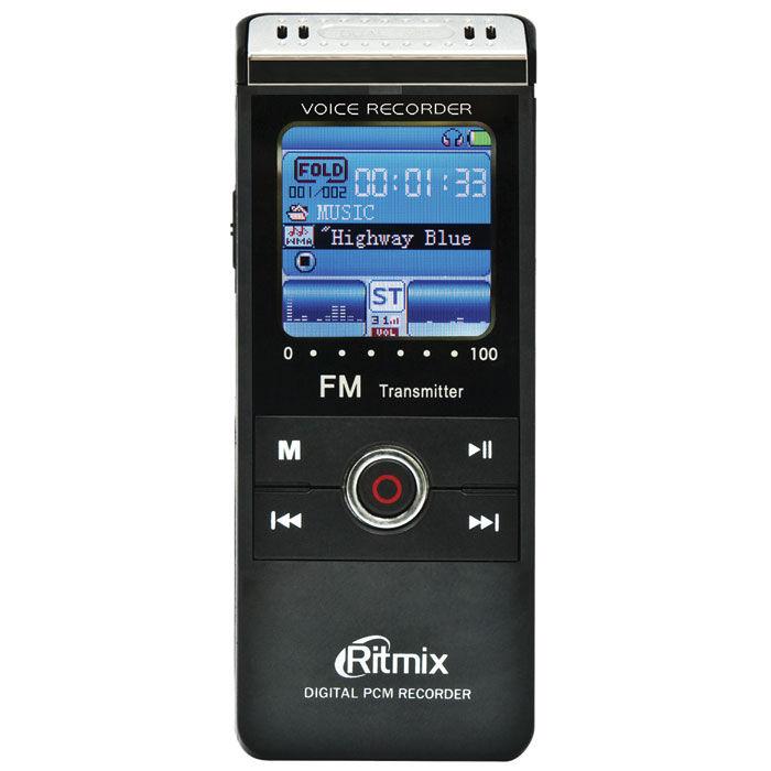 Диктофон RITMIX RR-960 2 Gb,  черный