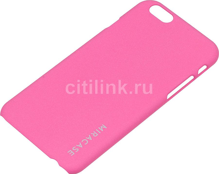 Чехол (клип-кейс) MIRACASE Quicksand, для Apple iPhone 6, розовый [ms-8403]