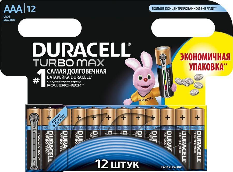 Батарея DURACELL Turbo MAX LR03-12BL