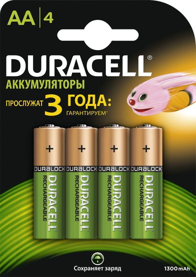 Аккумулятор DURACELL HR6-4BL,  4 шт. AA,  1300мAч