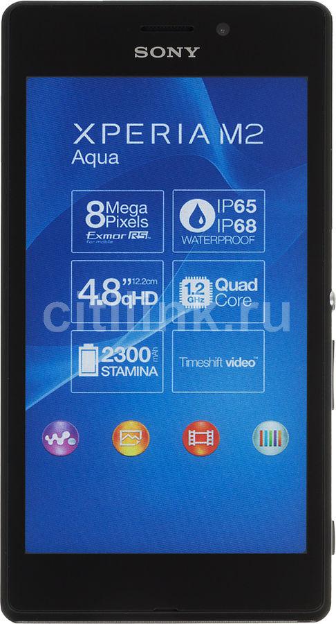 Смартфон SONY Xperia M2 aqua D2403,  черный