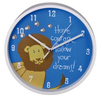 Настенные часы HAMA Lion H-123170, аналоговые,  синий