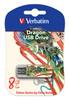 Флешка USB VERBATIM Store n GoMini Tattoo Dragon 8Гб, USB2.0, белый и узор