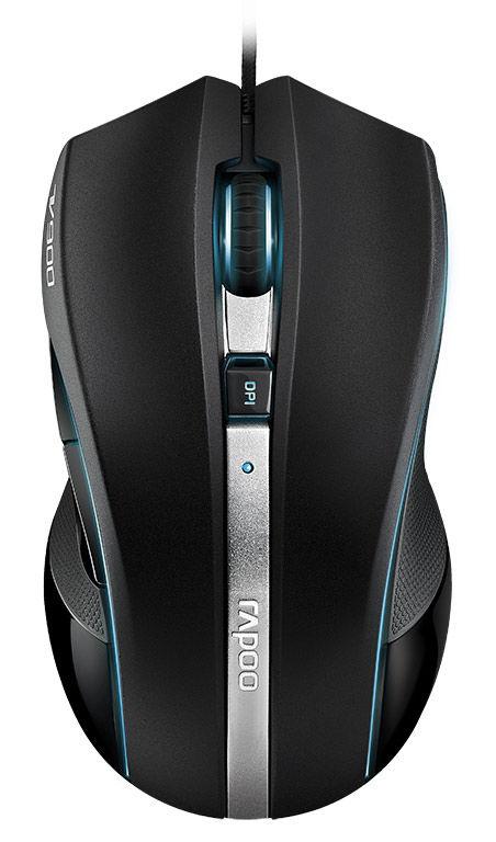 Мышь RAPOO V900 лазерная проводная USB, черный