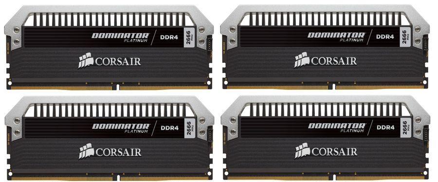 Модуль памяти CORSAIR DOMINATOR PLATINUM CMD32GX4M4A2666C15 DDR4 -  4x 8Гб 2666, DIMM,  Ret